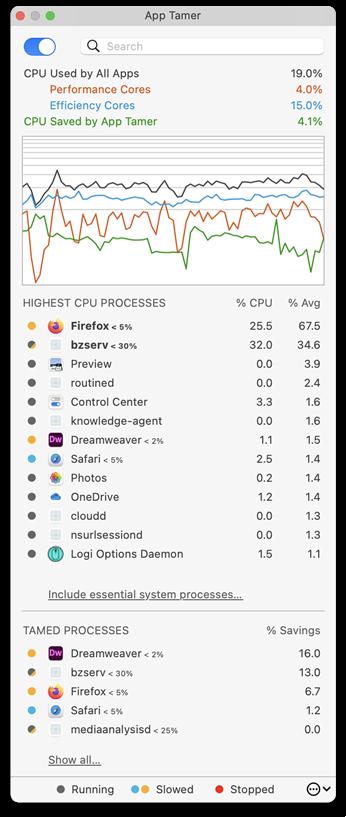 App Tamer Mac 破解版 Mac上实用的延长电池使用时间的工具-麦氪搜(iMacso.com)