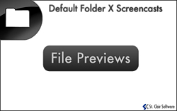 Screencast: Default Folder X Previews